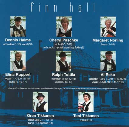 The performers involved in REFLECTIONS/MUISTELMIA, a Finn Hall CD