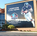 exterior wall of Pro Football Hall of Fame in Canton, Ohio