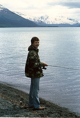 Gerry Mantel fishing in Alaska